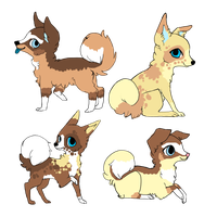 4 Pups to ~moon-flame-wolf by MichelsAdoptions