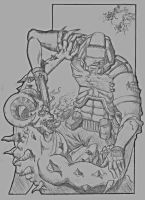 Thats One Doomed Space Marine by CaffeineHeart