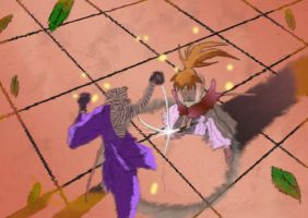 Kenshin vs Shishio by CaptainShaggy8