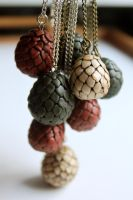 Game of Thrones Eggs Pendants by Nabila1790