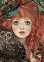 Owl girl - KC by Miss-Etoile
