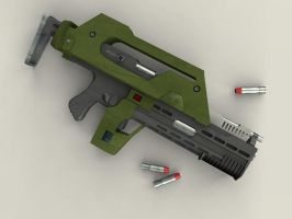 M41-A Pulse Rifle by flamingbs