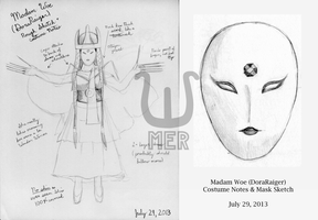 Power Rangers Madam Woe Sketches by towelgirl21
