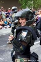 Halo Marine Costume - DragonCon Parade 2011 by hydraness