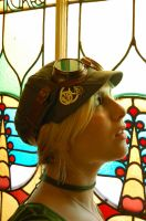 Steampunk goggles-and hat by LilywhiteBlack