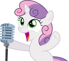 Sweetie Belle sings in public by dasprid