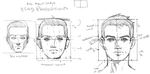 Head Proportions Male Front View by JetEffects