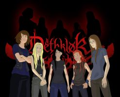 Female Dethklok by clser2thehart