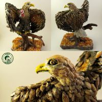 polymer clay eagle by Ladybird18