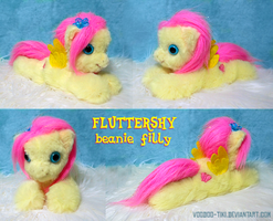 Fluttershy filly beanie-style plushie by Voodoo-Tiki