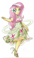 Fluttershy's Special Costume - Nature's Maiden by RJ-Streak