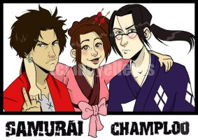Champloo Trio by lubyelfears