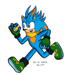 Kite the hedgehog by MightyRay