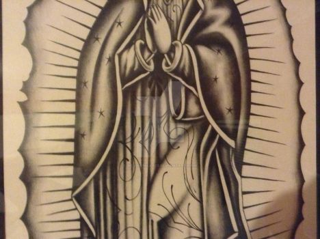 Virgen Guadalupe Masterpiece close up by mexibonilla13
