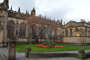 Outside Manchester`s Cathedral by Renan21
