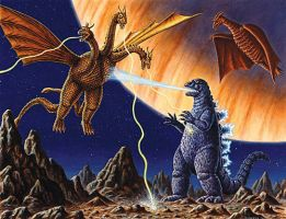 Godzilla VS Monster Zero by Monsterbatory1