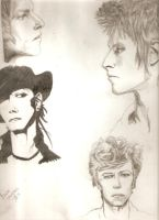 Bowie Sketches by cu-kid