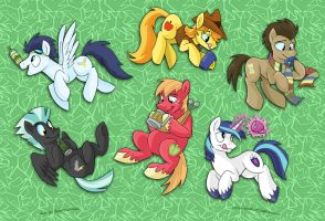 MLP Cup Art - Stallions by sophiecabra