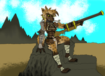 Yeshka - cute gnoll (remake) by marcioo9
