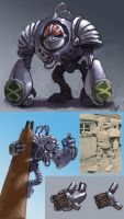 Giant Robot K1 redesign by Scarecrovv