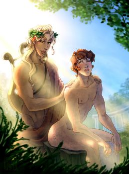 Apollo and Hyacinthus by Fedini