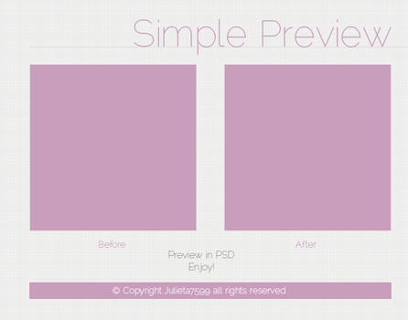 Simple Preview {PSD} by Julieta7599