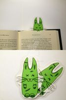 Zom-Bunnies Bookmark by blue-but-beautiful