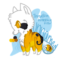 Threadfin Butterflyfish Fishfox Adoptable by jennawing