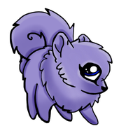 Purple Pomeranian by LokiGoat