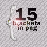 15 brackets en png by oobsessed