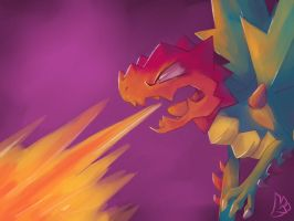 Flaming Dragon by lagendarylugia