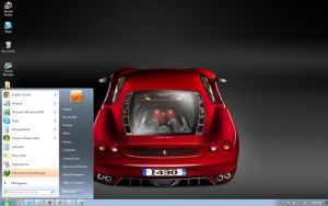 Ferrari-F430 windows 7 theme by windowsthemes