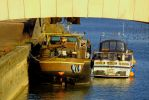 Old River Boats by Gwenmarch