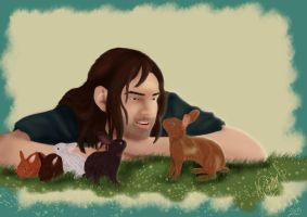 AT: Kili and the Dwarven bunnies by Michelle-JP