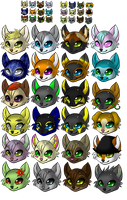 Chibi Love - Headshot Icons by Lai-Tut