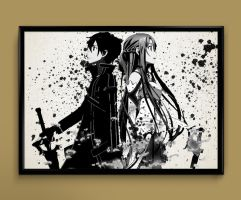 SAO Kirito nd Asuna by ColourInk
