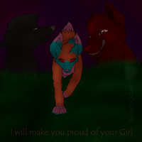 Proud of your girl by Rubylockheartwolf
