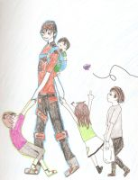 Mommy Vik and his 4 children by CaptainFabulous13