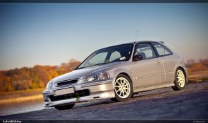 Civic In Autumn 03 by miki3d