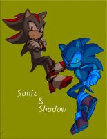 Sonic and Shadow by Legeh