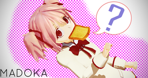 Madoka with Bread by Shichi-4134