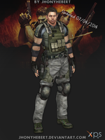 Chris Redfield - Full Armor by JhonyHebert
