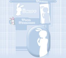 Youtube Layout Bunny by LilxCherrypop