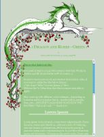 CSS Dragon and Roses- Green2 by jennyleigh