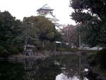 Osaka castle and pond by DavidinJapan