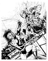 Green Arrow Versus Deathstroke by craigcermak