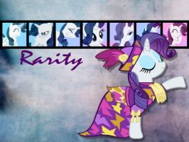 Rarity Wallpaper by phasingirl