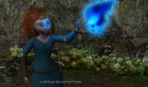 Brave: Merdia and The Wisp by Irishhips