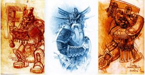 Dwarfs. sketches by ghostbow