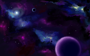 Spacescape Speedpaint by BellaCielo